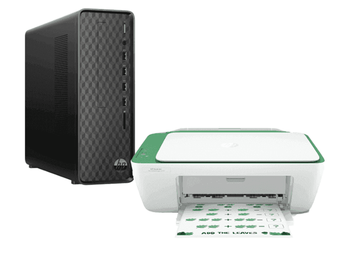 HP Slim Desktop S01-pf1177d Bundle with HP DeskJet Ink Advantage 2337 All-in-One Printer