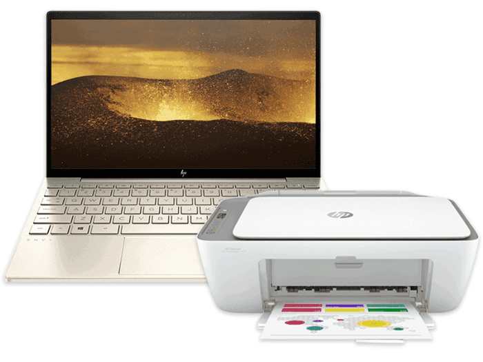 HP ENVY Laptop 13-ba1031TX bundle with HP DeskJet Ink Advantage 2775 All-in-One Printer