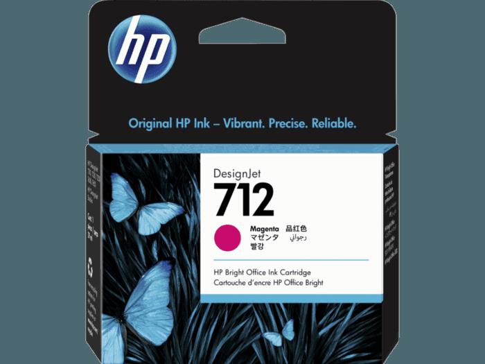 HP 712 Magenta 29-ml Original HP  Ink Cartridge (3ED68A) for DesignJet T650, T250, T230 & Studio Plotter Printers