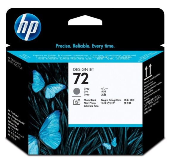 HP 72 Gray and Photo Black DesignJet Printhead