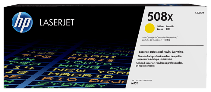 HP 508X High Yield Yellow Original LaserJet Toner Cartridge