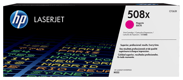 HP 508X High Yield Magenta Original LaserJet Toner Cartridge