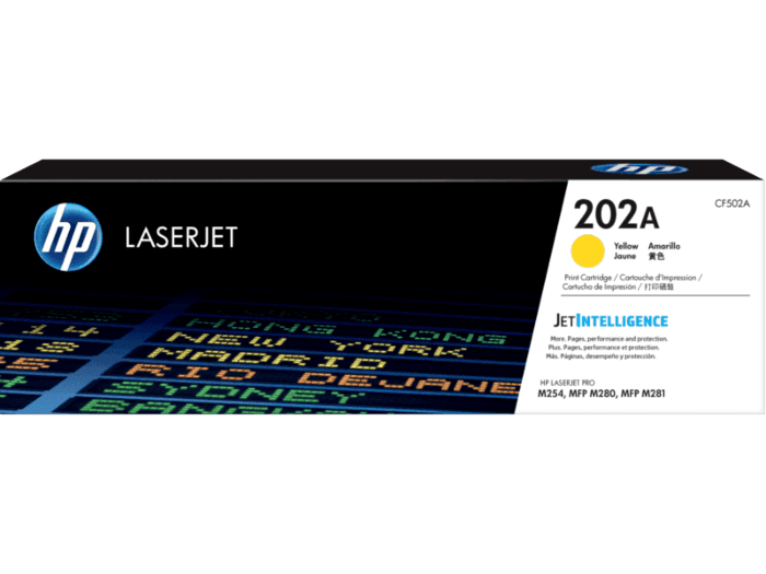 HP 202A Yellow Original LaserJet Toner Cartridge