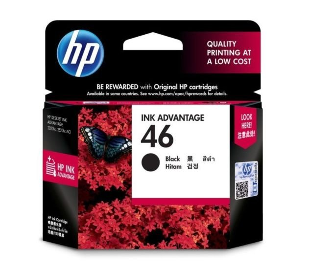 HP 46 Black Original Ink Advantage Cartridge