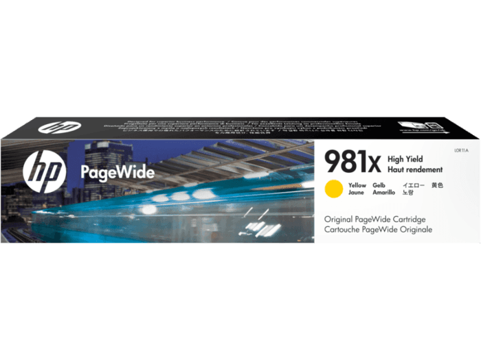 HP 981X High Yield Yellow Original PageWide Cartridge