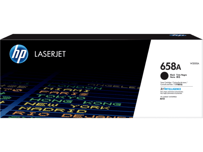 HP 658A Black Original LaserJet Toner Cartridge