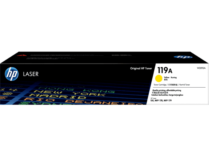 HP 119A Yellow Original Laser Toner Cartridge