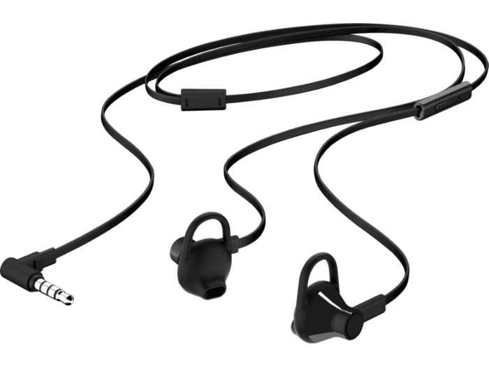 HP Earbuds Black Headset 150