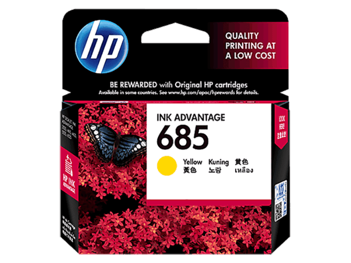 HP 685 Yellow Original Ink Advantage Cartridge
