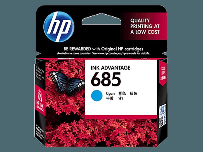 HP 685 Cyan Original Ink Advantage Cartridge