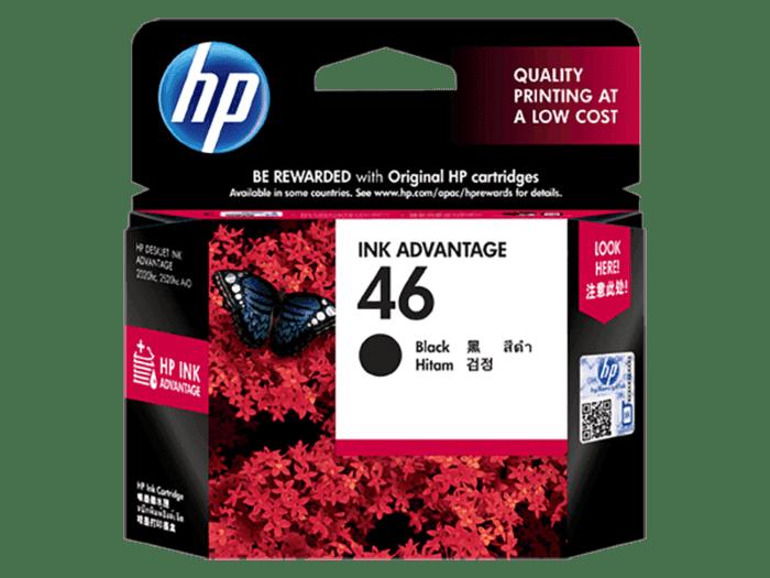 HP 46 Black Original Ink Advantage Cartridge