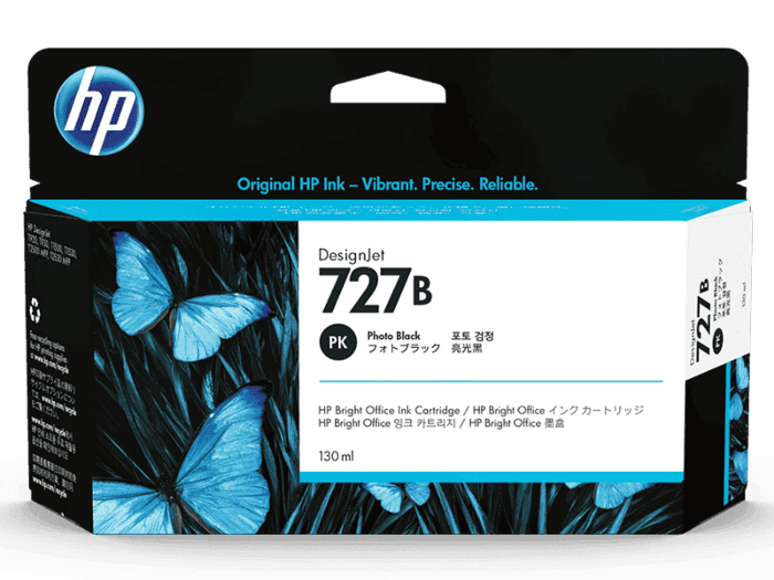 HP 727B 130-ml Photo Black DesignJet Ink Cartridge