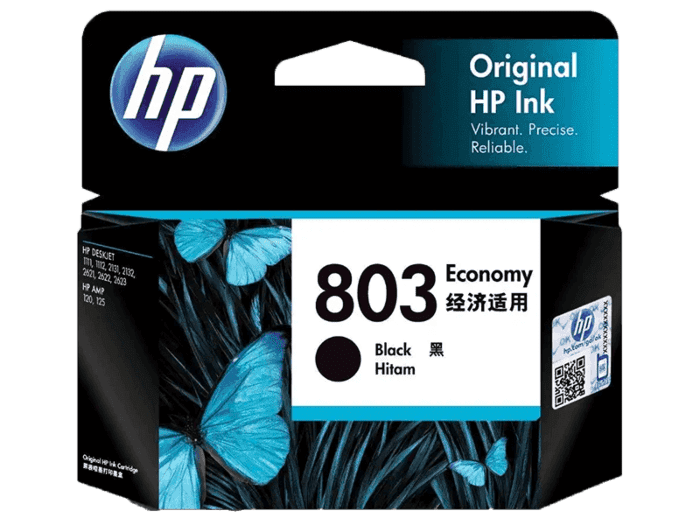 HP 803 Economy Black Original Ink Cartridge