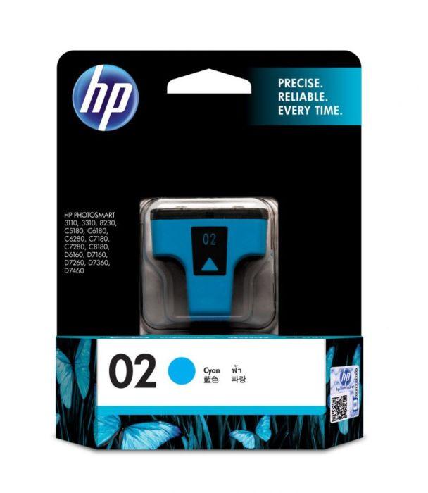 02 >> Hp 02 Cyan Original Ink Cartridge Hp Online Store
