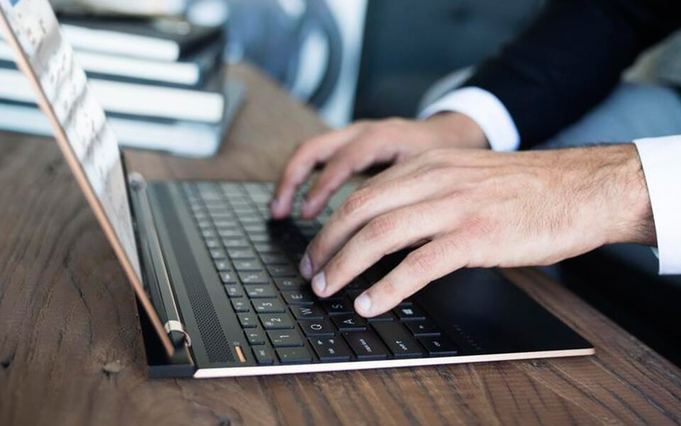 HP Spectre laptop backlit keyboard