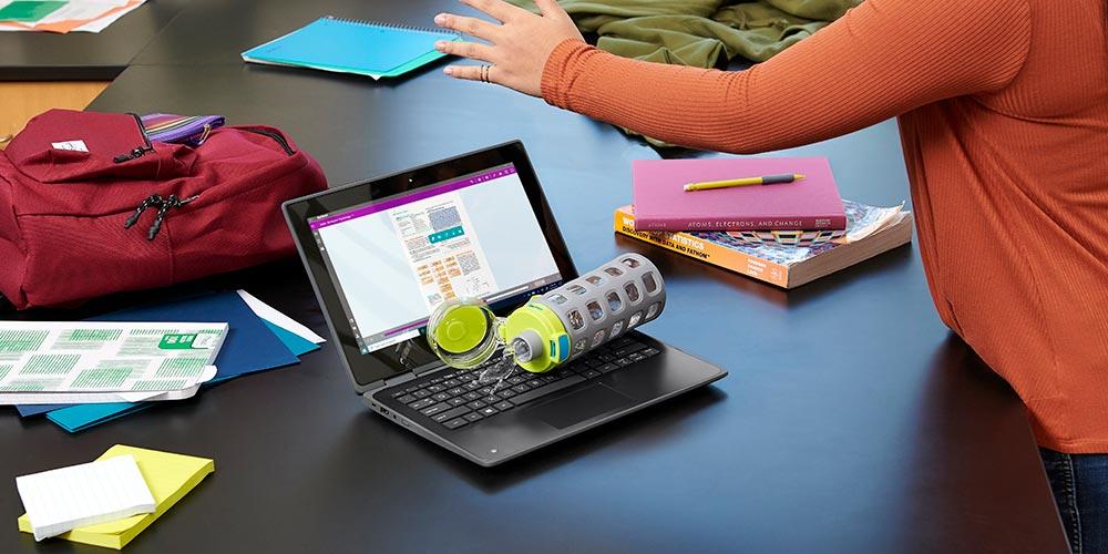 Garansi yang diperpanjang untuk ketumpahan atau kecelakaan pada laptop bisnis HP