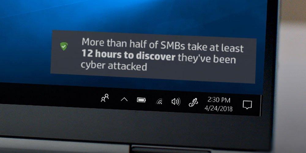 Laptop memulihkan file yang diserang oleh malware menggunakan HP Sure Recovery